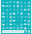 Set of tourism flat icons vector image