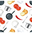Background Kitchen seamless vector image