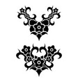 flowers tribal tattoo set vector image