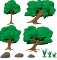 Forest Tree Cartoon Set vector image