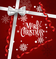 Holiday Gift with Christmas decorations vector image