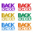 inscription back to school in the form of a logo vector image