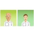 male and female doctors vector image