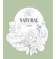 NAtural Cosmetics Vintage Sketch vector image