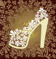 pattern of fashion Footwear vector image