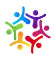 People hugging logo vector image