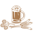 wheat beer vector image vector image