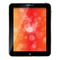 Black abstract tablet pc on white background vector image