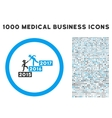 Annual Gentleman Help Icon with 1000 Medical vector image