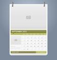 Clean calendar 2013 template design vector image