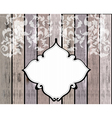 floral ornament over wood vector image vector image