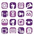 color movie icon set vector image vector image