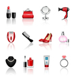 Womens Accessories vector image