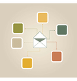 e mail vector image