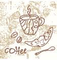 coffee grunge vector image vector image