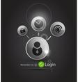 login background vector image vector image