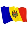 political waving flag of moldova vector image vector image