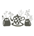 Owls ant the tea vector image