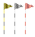 Checkered flags vector image vector image