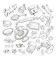 Baking doodle collection vector image