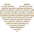 Big bright heart made of small ones vector image