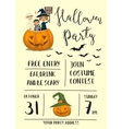 Halloween party poster design with kids vector image