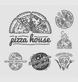 italian authentic pizza house with family recipes vector image