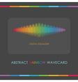 Rainbow wave design elements vector image