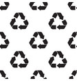 seamless pattern with recycle vector image