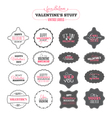 Set of Valentines day vintage labels vector image