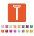 The shaving razor icon Shaver symbol Flat vector image