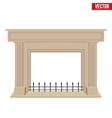 Traditional fireplace flat style design vector image