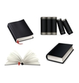 Book collection black vector image vector image