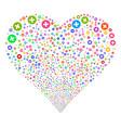 create fireworks heart vector image
