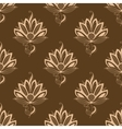 Floral motif repeat seamless pattern vector image vector image