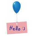 Hello card vector image