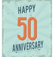50 Year Celebrating Anniversary graphic vector image