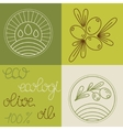 Set of olive oil logos vector image vector image