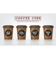 Coffee cups is isolated and Coffee Logo vector image