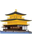 Golden Pavillion Temple vector image