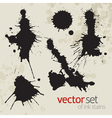 Ink stains set 1 vector image vector image
