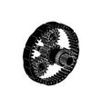 Black planetary gear vector image