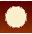 Brown background with beige round label vector image