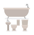 colorful set of bathroom interior objects vector image