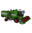 Funny green harvester vector image