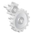 Industrial icon big steel gear vector image