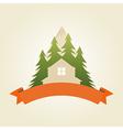 mountain house 5 vector image