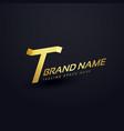 premium letter t logo concept design template vector image