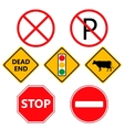 Traffic Laws labels for your product or design vector image