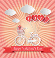 valentines day abstract paper love hearts vector image